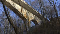 010crpfwlshsat (citatus) Tags: park bridge toronto canada spring afternoon pentax pedestrian moore ii underside ravine k3 2016