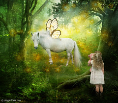 All you need is Faith, Trust and Pixie Dust ... (rubyblossom.) Tags: trees horse girl stars golden wings child teddy pixie sparkle dust magical 2016 rubyblossom miichallenge1 premadebackground rubystreasurechallenge63