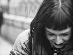 Inside Joke (BW3200) Tags: blackandwhite girl monochrome fashion mono manhattan streetphotography 45mm olympusem5 garryvelletri