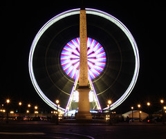 IMG_0409 THE WHEEL - 2016 (WORLD OF FMR) Tags: light paris wheel night canon concorde roue obelisque