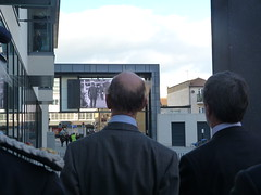HRH The Duke of Kent watching his father in archive film footage (SouthendBC) Tags: kent duke southend theforumsouthendonsea