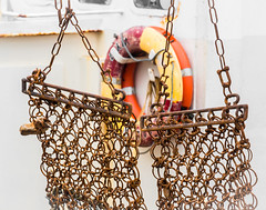 Nets (dorsetpeach) Tags: england net metal boat fishing lifebelt harbour rusty dorset fishingboat weymouth weymouthharbour oldharbour