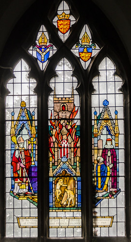 Metheringham, St Wilfred's church, Stained glass window