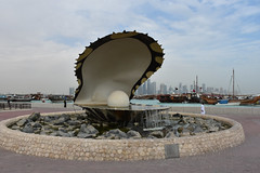 Qatar - 2015-2153a (MacClure) Tags: sculpture corniche pearl oyster oman doha