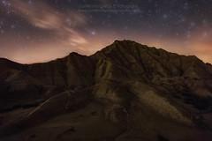 Paw (Guillermo Garca Delgado) Tags: sky night clouds long exposure desert roja navarra bardenas reales