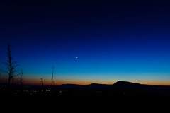 Colors before night (adria.husa) Tags: blue sunset sky moon colors night colours