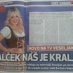 Svet24, 06.09.2014, članek novopečene televizijske voditeljice - Barbare Imperl.