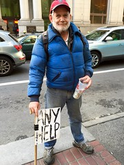 looking for help (vhines200) Tags: sanfrancisco sign homeless 88 panhandler 2016