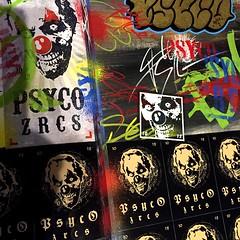 BlackBook (PSYCO ZRCS 10/12) Tags: street black art collage graffiti book sticker stickerart tag stickers tags slap psyco blackbook combo slaps throwie stickerculture stickerporn stickerlife