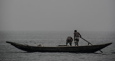 Life & Livelihood (Pabitra Samadder) Tags: river boat blackwhite fisherman meghna
