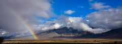 Rainbow at the Mountain's Foot (maytag97) Tags: mountain mountains clouds rainbow nikon idaho d750 lostriverrange maytag97 idahoroadtripvacation