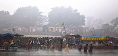 Pilgrims bathing in the Sarayu River (David Clay Photography) Tags: morning india bathing hindu pilgrimage rama pilgrims sarayu ayodhya