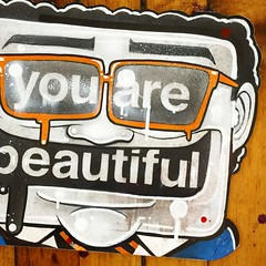 ANTCK (billy craven) Tags: youarebeautiful streetartchicago stickergame galerief yabsticker