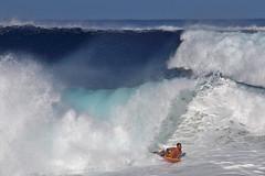 High Surf Warning (RicoLeffanta) Tags: ocean sea man male sport warning hawaii seaside high whitewater surf oahu north wave rico shore swell pipeline banzai boogieboard boogieboarding leffanta