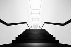up (O l l i . B .) Tags: white black architecture stairs blackwhite arquitectura fineart treppe architektur sw schwarz weis schwarzweis