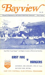 East Fife v Rangers  19720129 (tcbuzz) Tags: park club football fife scottish east bayview league programme methil