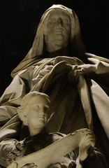 something is going on (Breboen) Tags: light rome art church statue contrast dark pantheon marble