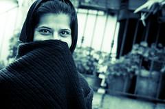 (AlexOrr) Tags: sardegna street city portrait people urban bw woman white black photography eyes nikon candid unposed bianco nero 28300 orotelli d3200 strasenfotografie alessandroorr