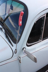 a weinershnitzel hot dog on the antenna (EllenJo) Tags: 1969 car vw vintage volkswagen beetle az canonrebel 1970 digitalimage verdevalley yearunknown clarkdalearizona ellenjo ellenjoroberts hc355 alaskanplates