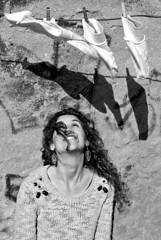 DSC_8278 (Stefanos Antoniadis) Tags: she portrait blackandwhite woman muro portugal girl smile socks wall laughing donna model europa europe lisboa lisbon curvy bn lei laundry ricci laugh sorriso walls ritratto sul biancoenero sud ragazza lisbona portogallo muri almada bucato nereid calzini modella riccia biancheria margemsul nereide