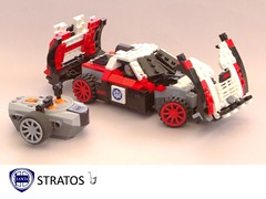 Lancia Stratos Rally Racer - 1972 (lego911) Tags: auto italy classic sports car radio one model italian control dino lego rally ferrari hundred wrc 100 win 1970s 1972 rc ways challenge lancia racer lugnuts v6 stratos moc group4 miniland group5 lego911 onehundredwaystowin