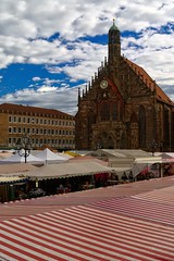 Buy or prey (stanislaff) Tags: travel architecture germany landscape samsung landmark frauenkirche nürnberg nuernberg wavelet ciecam rawtherapee nx30 nx1855ois