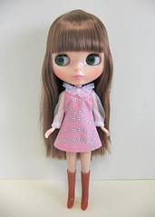 ruffle collar dress pink