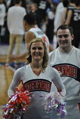 CHEERING FOR UVA (SneakinDeacon) Tags: basketball cheerleaders providence tournament ncaa uva wahoos friars cavaliers bigeast hoos pncarena