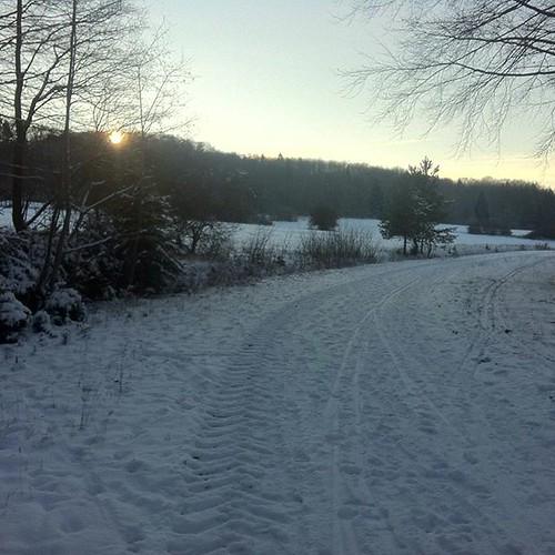 Der Sauberg im Schnee. #laufen #running...