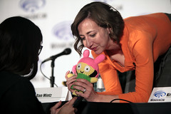 Kristen Schaal (Gage Skidmore) Tags: california dan swim john los adult angeles bob center burgers larry fox convention kristen roberts loren murphy bobs wondercon 2016 schaal bouchard mintz