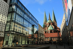 Lubeck cathedral (bennychun) Tags: ice church germany gate europe gothic queen tor hbf lubeck league burg holstentor deutsche hanseatic