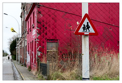 School's out, forever (leo.roos) Tags: streetart sign children graffiti grafitti kinderen wallart redhouse graphiti graphitti trafficsign verkeersbord doel carlzeiss a99 darosa leoroos sonyczvariosonnar247028