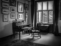 "Dunster Castle in Black and white • <a style=""font-size:0.8em;"" href=""http://www.flickr.com/photos/32236014@N07/25627207876/"" target=""_blank"">View on Flickr</a>"