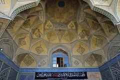 Ceiling decoration (dan & emily) Tags: islam prayer mosque esfahan shiite farsi iranianarchitecture masjidejameh