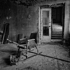 Krankenstuhl-2 (naturalbornclimber) Tags: urban bw decay radiation nuclear ukraine hasselblad disaster medium format exploration bnw zone chernobyl exclusion urbex tschernobyl pripyat hasselblad503cx prypjat