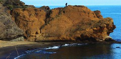 Monstre ptrifi ? (Grard Farenc (slowly back) !) Tags: sea mer france monster rocks europe capdagde paysage extrieur 34 rochers monstre volcan hrault mermditerrane basalte