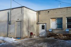 Behind 1336 Main Street (bryanscott) Tags: ca winter snow canada building architecture alley winnipeg manitoba northend backlane
