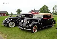 1934 Lincoln Model K Sedan & 1936 Buick Roadmaster Convertible Sedan (JCarnutz) Tags: 1936 buick lincoln 1934 roadmaster gilmorecarmuseum modelk cccagrandexperience