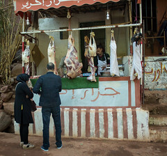 Street Butcher, Marrakech, Morocco (simononly) Tags: vacation holiday canon easter march break mosaic meat butcher morocco berber marrakech medina marrakesh 2016 60d