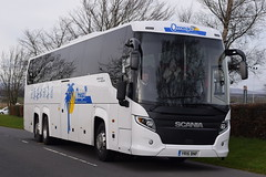 YR16BNF  Omega Travel, Milton Keynes (highlandreiver) Tags: travel bus green scotland coach omega group scottish gretna bnf milton touring coaches scania keyes yr16 yr16bnf