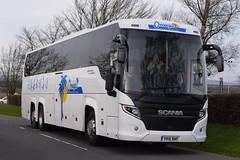 YR16BNF  Omega Travel, Milton Keynes (highlandreiver) Tags: travel bus green scotland coach omega group scottish gretna bnf milton touring coaches scania keyes yr16 yr16bnf