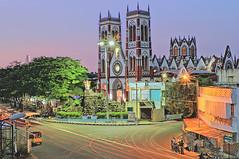 Sacred heart church, Pondicherry (goa974) Tags: india church architecture nikon south 1855mm tamil hdr pondicherry nadu puducherry d3100