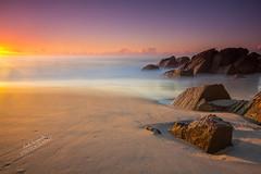 Zenith Beach Sunrise (labtamg) Tags: seascape rock landscape nsw zenith zenithbeach sunsire portstephen