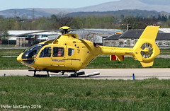 G-SASA EC135 Glasgow April 2016 (pmccann54) Tags: eurocopterec135 scottishairambulance gsasz