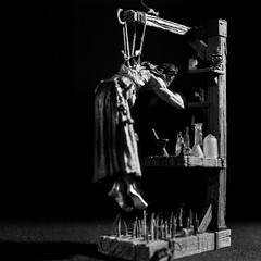 Todd McFarlane Rasputin. Six Faces of Madness. (totalcontrol9) Tags: light shadow bw film contrast darkroom lights collection hasselblad scanned rasputin ritual shadowplay chemicals figures toddmcfarlane alchemy rituals planar sidelighting alchemist hanselgretel silvergelatin okeepa planar1485 cm500 planarlens