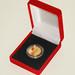 Moneda de oro emitida por el Banco Central de la República Argentina con motivo del centenario del nacimiento de Jorge Luis Borges
