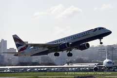 British Airways ERJ190 ~ G-LCYL ( Freddie) Tags: london londoncityairport newham e16 lcy royaldocks eglc runway27