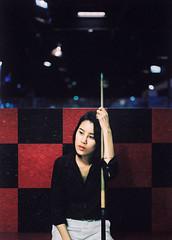 SML_160229_645_46-Edit ( Sean Marc Lee ) Tags: portrait film pool girl analog silver kodak handsome billiards pentax645nii