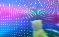 Running Pop (lifeinapixel) Tags: man motion blur walking lights dream running pop fitness runner multicolor prisma