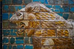 Ishtar gate lion (orientalizing) Tags: turkey istanbul lions babylon reliefs archaeologicalmuseum glazedbrick ishtargates archaia